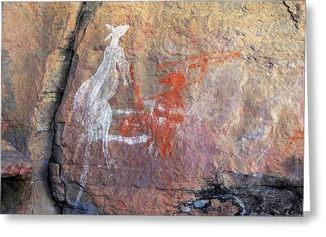 Aboriginal Rock Paintings Greeting Card by Bildagentur-online/mcphoto-schulz