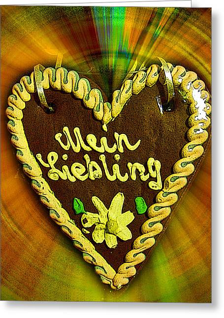 My Space Greeting Cards - About Love. Mein Liebling. My Sun.   Greeting Card by Andy Za