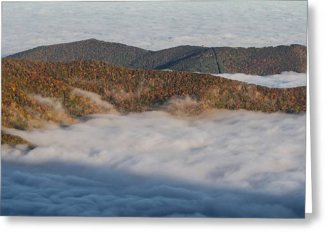 Nc Greeting Cards - Above a Sea of Clouds Greeting Card by John Haldane