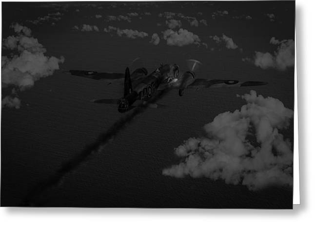 Wellingtons Greeting Cards - Above and beyond - Jimmy Ward VC black and white version Greeting Card by Gary Eason