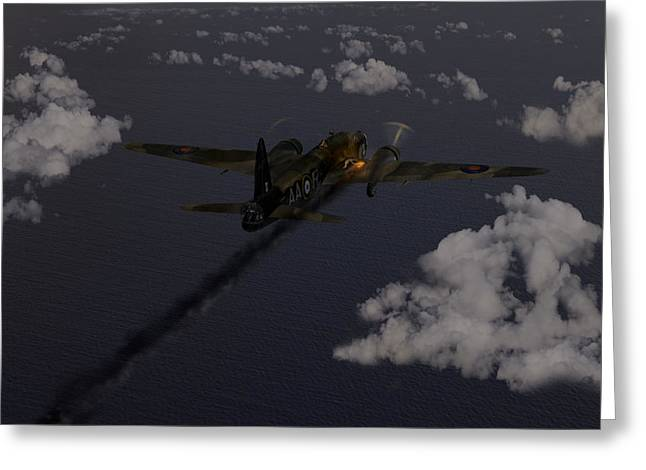 Wellingtons Greeting Cards - Above and beyond - Jimmy Ward VC Greeting Card by Gary Eason