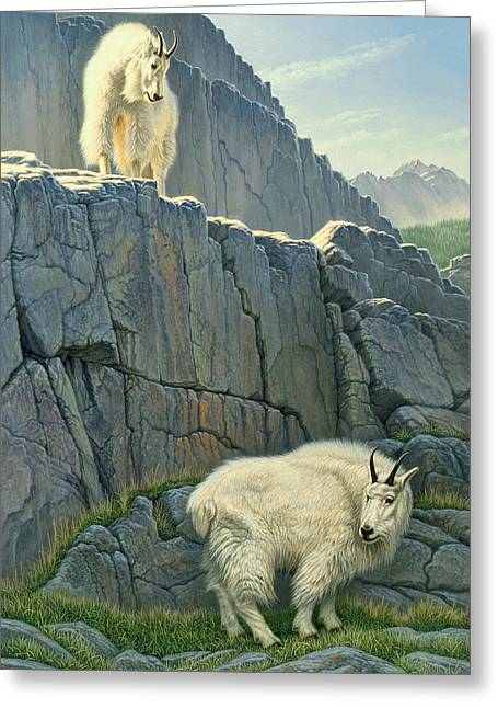 Cliffs Greeting Cards - Above and Beyond Greeting Card by Paul Krapf