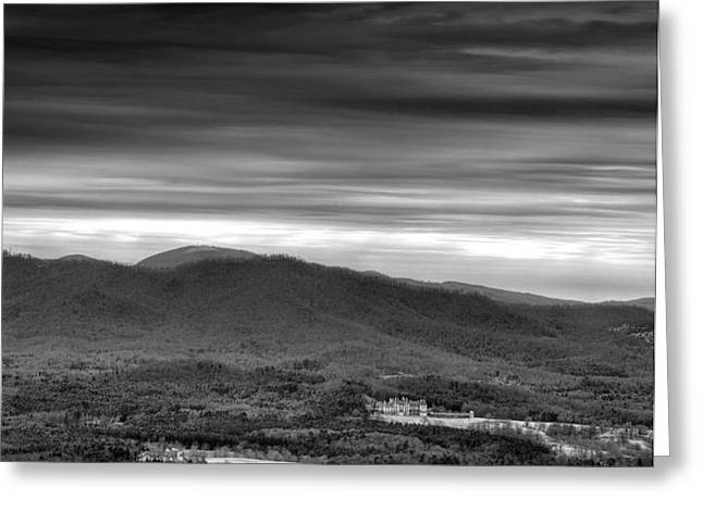 Above Asheville Greeting Card by Steven Llorca