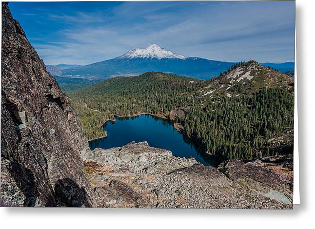 Castle On Mountain Greeting Cards - Above Castle Lake 1 Greeting Card by Greg Nyquist