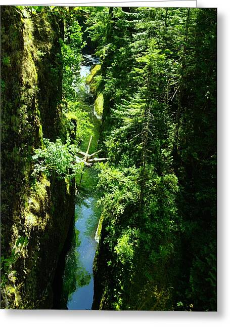 Eagle Creek Greeting Cards - Above Eagle Creek Greeting Card by Jeff  Swan