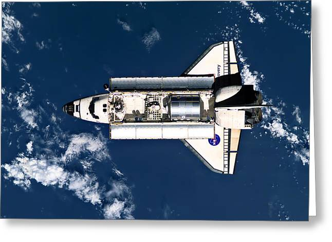 Iss Greeting Cards - Above Earth Greeting Card by Ricky Barnard