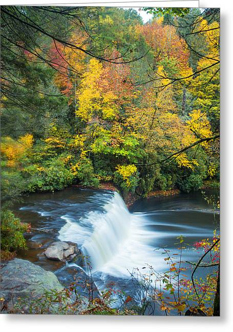 Peaceful Greeting Cards - Above Hooker Falls Greeting Card by Andres Leon