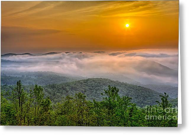 Blue Knob Mountain Greeting Cards - Above it All I Greeting Card by Dan Carmichael