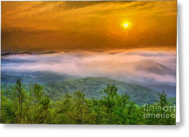 Blue Knob Mountain Greeting Cards - Above it All II Greeting Card by Dan Carmichael
