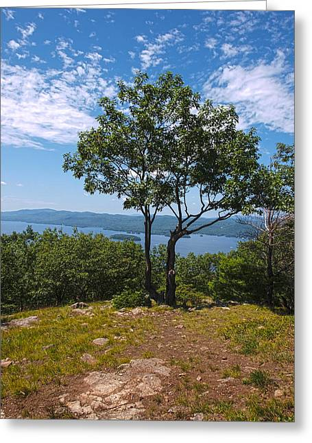 The Lake George Greeting Cards - Above Lake George Greeting Card by Joshua House