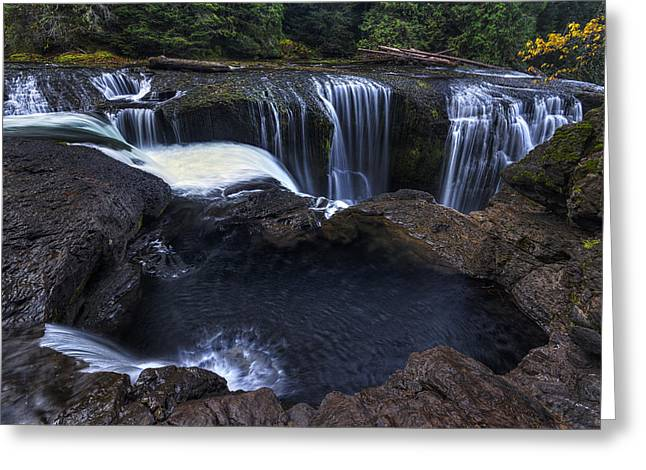Pacific Northwest Greeting Cards - Above Lower Lewis Falls 2 Greeting Card by Mark Kiver