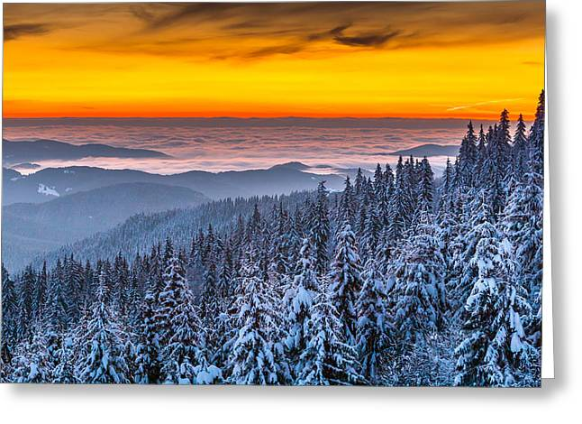 Bulgaria Greeting Cards - Above Ocean Of Clouds Greeting Card by Evgeni Dinev