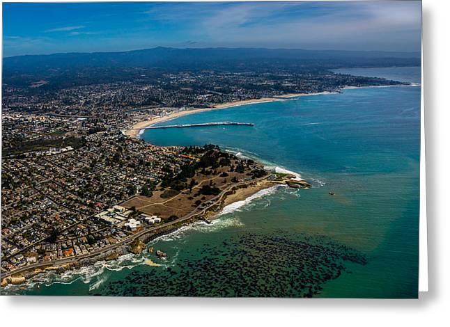 Above Santa Cruz California Looking East Greeting Card by Randy Straka