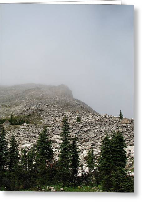 Scapegoat Greeting Cards - Above Scapegoat Camp Fog Greeting Card by Pam Little