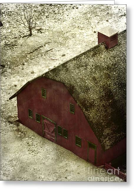 Entrance Door Greeting Cards - Above the Barn Greeting Card by Margie Hurwich