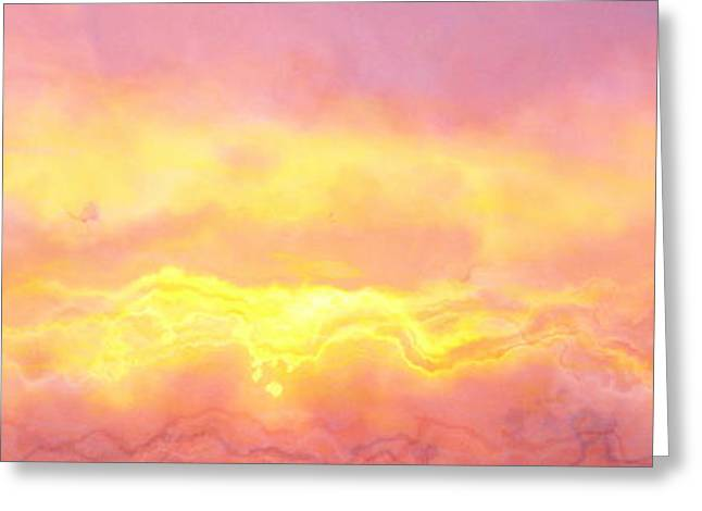 Above The Clouds - Abstract Art Greeting Card by Jaison Cianelli