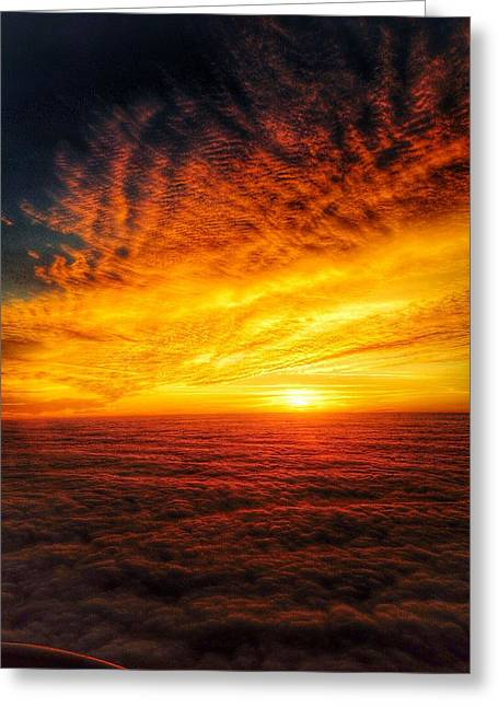 Above The Clouds Greeting Card by Edward Johnston