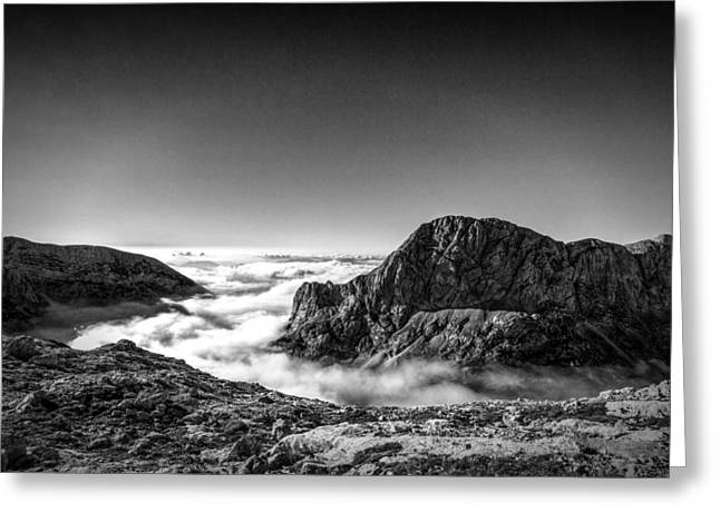Mountain Valley Photographs Greeting Cards - Above the Clouds Greeting Card by Ian Hufton