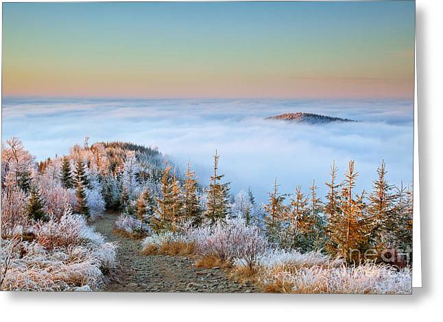 Inversion Greeting Cards - Above the Clouds Greeting Card by Katka Pruskova