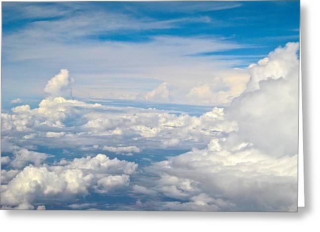 Byron Varvarigos Greeting Cards - Above The Clouds Over Texas image b Greeting Card by Byron Varvarigos