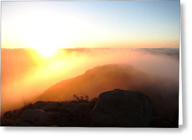 Bishops Peak Greeting Cards - Above the Clouds Greeting Card by Paul Foutz