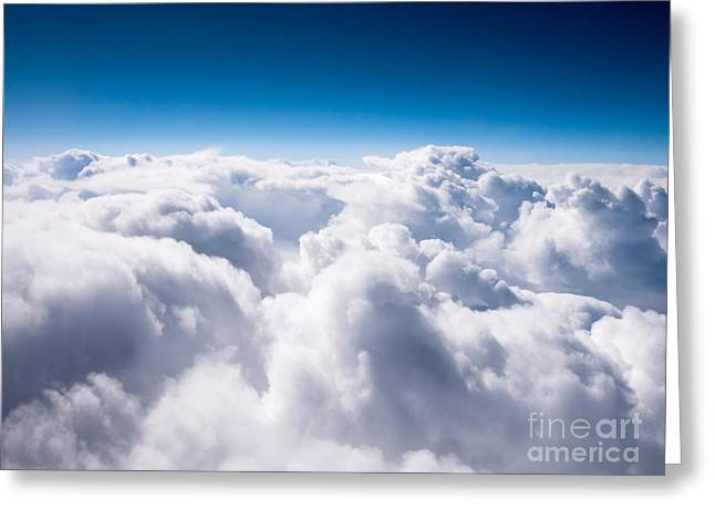 Puffy Greeting Cards - Above The Clouds Greeting Card by Paul Velgos