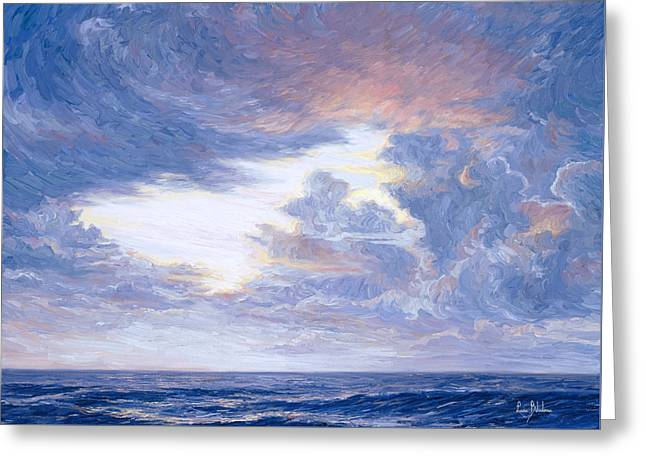 Horizon Paintings Greeting Cards - Above The Horizon Greeting Card by Lucie Bilodeau