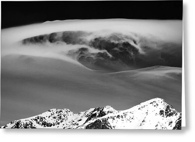 Cloud Formations. Cloud Photography Greeting Cards - Above the Peaks Greeting Card by Dave Bowman