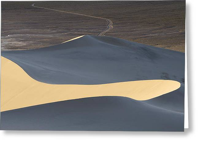Sand Dunes National Park Greeting Cards - Above the Road Greeting Card by Chad Dutson