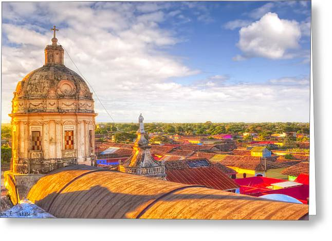 Cupola Greeting Cards - Above The Roofs Of Granada - Nicaragua Greeting Card by Mark Tisdale