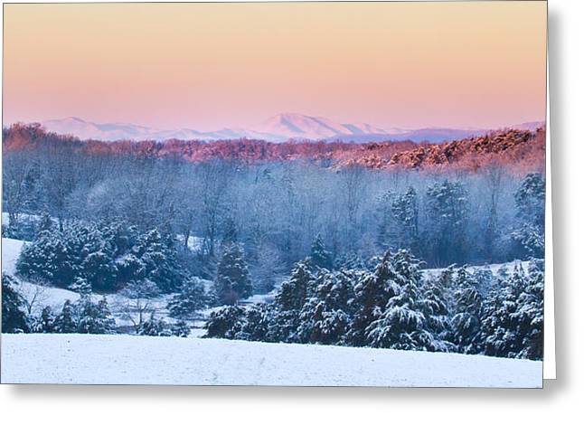 Above The Valley Greeting Card by Nathaniel Kidd