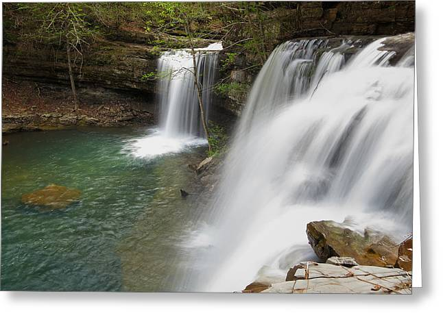 Richland Creek Greeting Cards - Above Twin Falls Greeting Card by Matthew Parks