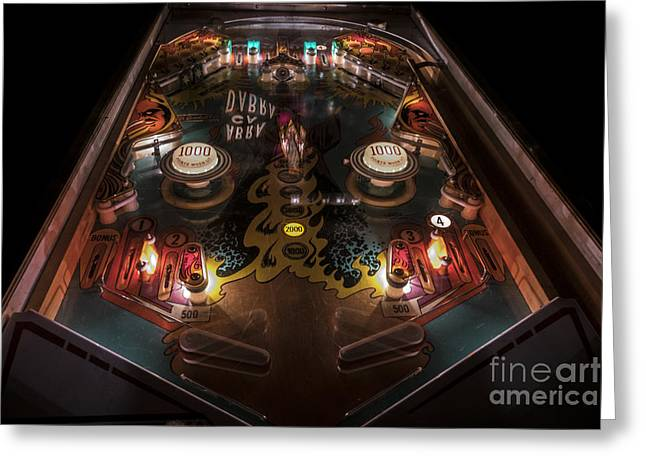 Gameroom Greeting Cards - Abra Ca Dabra in Color Greeting Card by Jeffrey Miklush