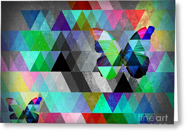 Surreal Geometric Greeting Cards - Abracadabra  Greeting Card by Mark Ashkenazi
