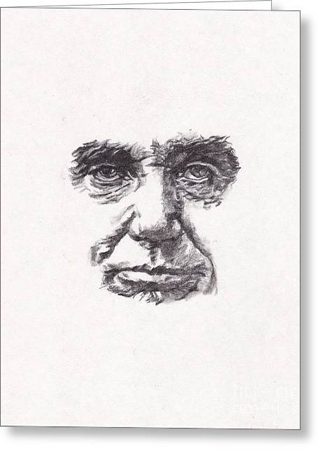 Abraham Lincoln Drawings Greeting Cards - Abraham Greeting Card by Lee Ann Shepard