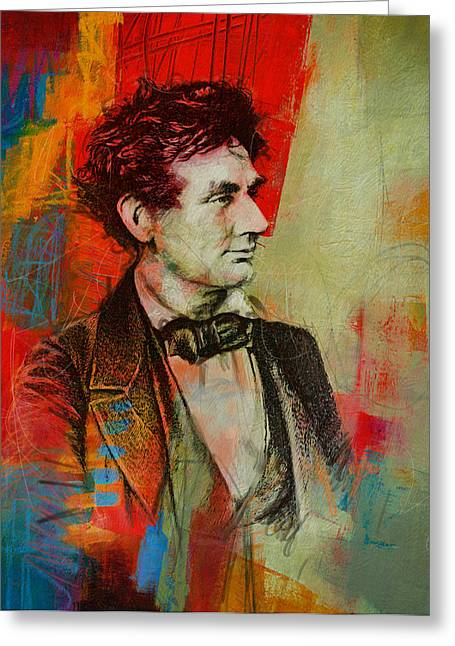 Abraham Paintings Greeting Cards - Abraham Lincoln 04 Greeting Card by Corporate Art Task Force