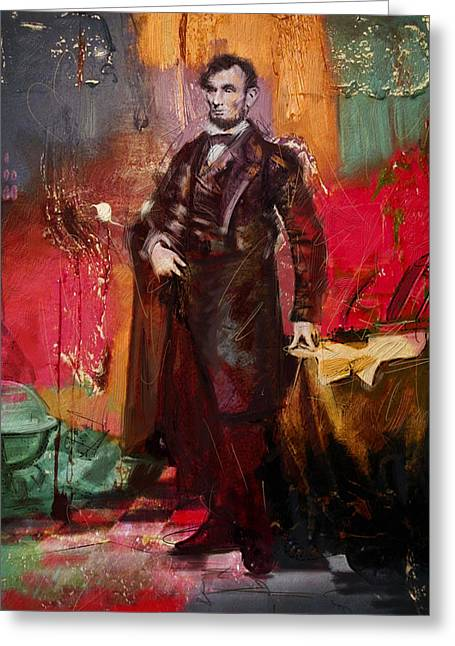 Abraham Paintings Greeting Cards - Abraham Lincoln 05 Greeting Card by Corporate Art Task Force