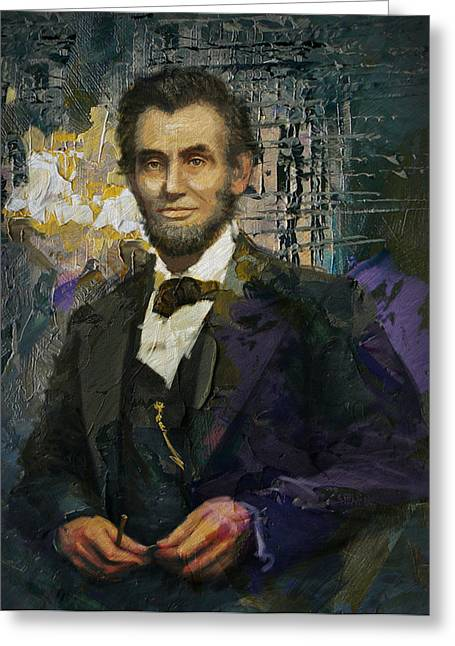 Abraham Paintings Greeting Cards - Abraham Lincoln 07 Greeting Card by Corporate Art Task Force