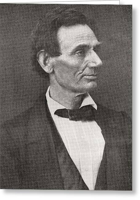 U.s.a. President Greeting Cards - Abraham Lincoln, 1809 – 1865, Seen Here In 1860.  16th President Of The United States Of America Greeting Card by Bridgeman Images