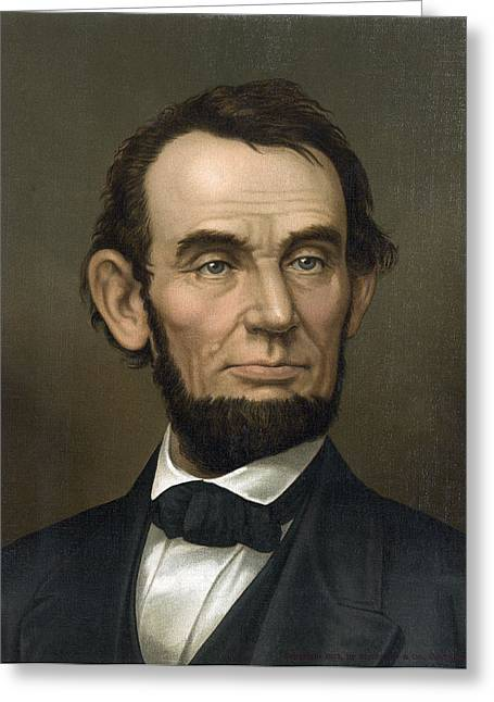 Resolve Greeting Cards - Abraham Lincoln  1877 Greeting Card by Daniel Hagerman