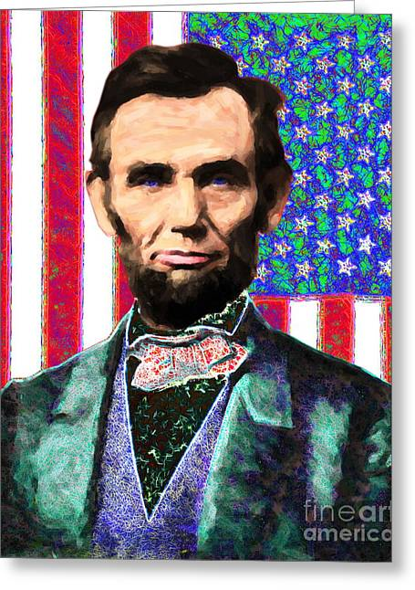 Proclamation Greeting Cards - Abraham Lincoln 20130115 Greeting Card by Wingsdomain Art and Photography