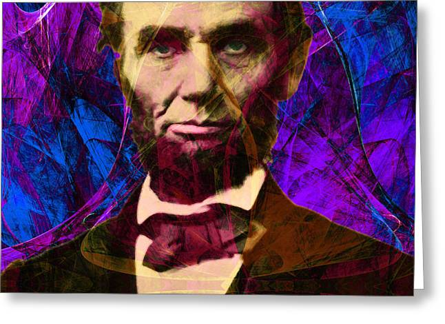 Abraham Lincoln 2014020502m118 Greeting Card by Wingsdomain Art and Photography
