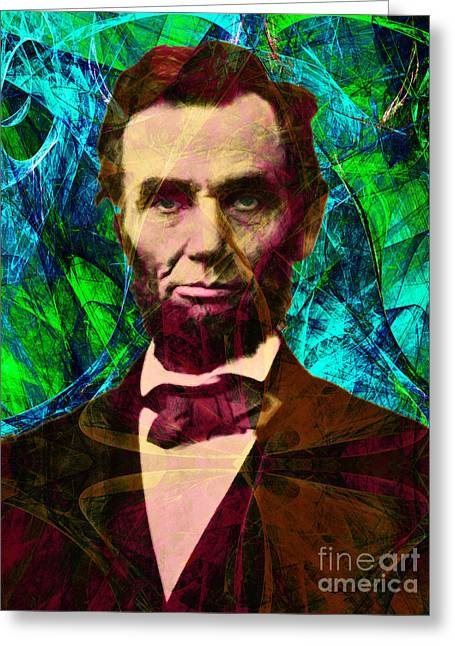 Slavery Greeting Cards - Abraham Lincoln 2014020502p145 Greeting Card by Wingsdomain Art and Photography
