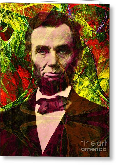 4th July Digital Art Greeting Cards - Abraham Lincoln 2014020502p28 Greeting Card by Wingsdomain Art and Photography