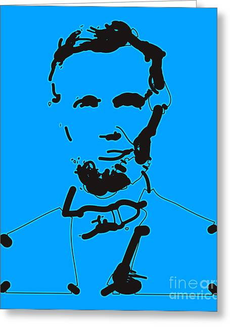 Popart . Greeting Cards - Abraham Lincoln Abstract Greeting Card by Pixel Chimp