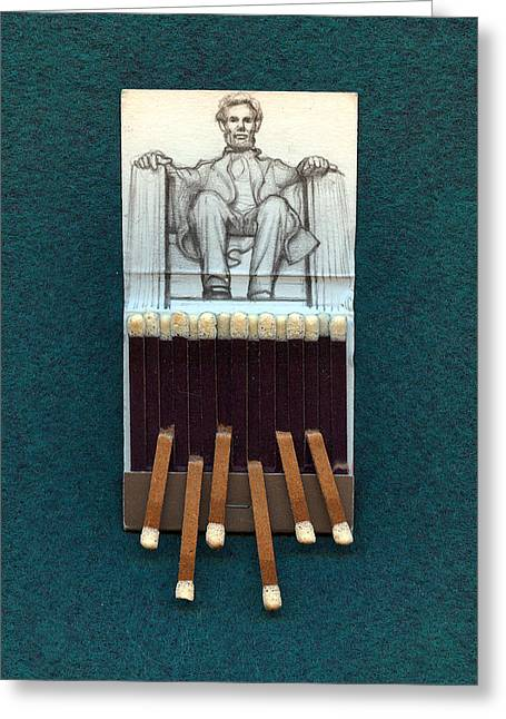 Abraham Lincoln Pictures Greeting Cards - Abraham Lincoln Greeting Card by Alexandre  Sazonov