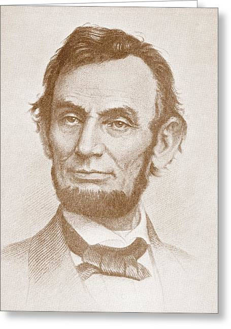 Abolitionist Greeting Cards - Abraham Lincoln Greeting Card by American School