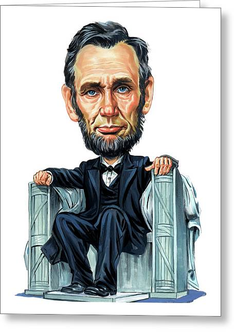 Famous Person Paintings Greeting Cards - Abraham Lincoln Greeting Card by Art