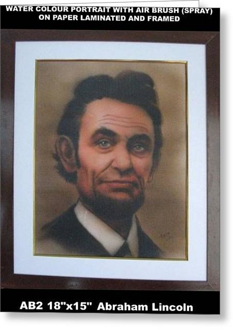 President Pastels Greeting Cards - Abraham Lincoln Greeting Card by Babu