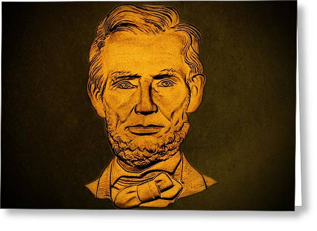 Abraham Lincoln  Greeting Card by David Dehner